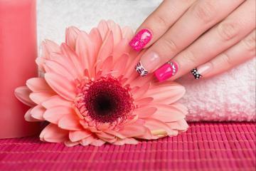 Pink Nail skin