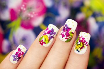 Flowers Nail skin